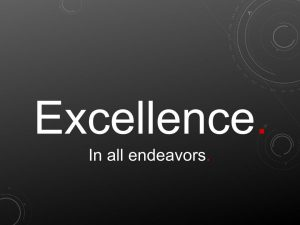 Excellence. In all endeavors.